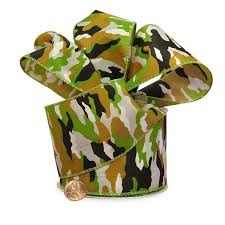 camouflage ribbon camouflage wired satin ribbons