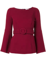 belted blouse 568 p a r o s h belted blouse buy fast delivery