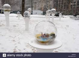 Gazing Globes Visitors To Madison Square Park In New York View