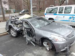 wrecked car here u0027s the mangled car from fatal williamsburg bridge crash that