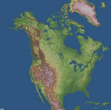 Physical Map Of North America by Major Physical Features Of United States And Canada Thinglink