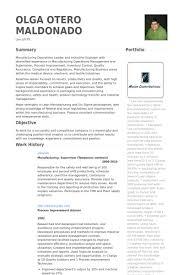 Industrial Engineer Resume Sample by Manufacturing Supervisor Resume Samples Visualcv Resume Samples