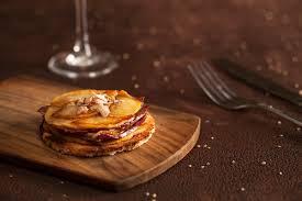 epicurien recettes de cuisine crokmou tatin de magret de canard pomme foie gras