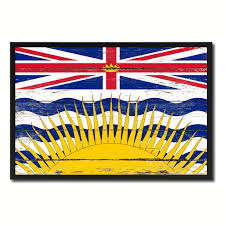 Home Decorations Canada by British Columbia Province City Canada Country Vintage Flag Home