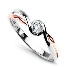 zasnubni prsteny zlato s brilianty staviori zlatý prsten s briliantem růžové a