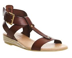 office hadley leather espadrille brown leather sandals