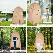 Outdoor Shower And Toilet Tomshoo Camping Tent Outdoor Shower Tent Ship From Ru Toilet Tent