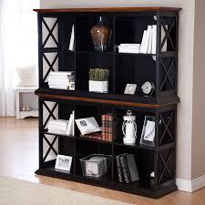 Distressed Black Bookcase Amazon Com Belham Living Hampton Console Table 2 Shelf Bookcase