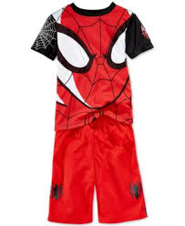 nannette boys u0027 2 piece spiderman face tee u0026 shorts kids