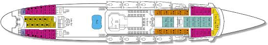the deck plan of the emerald cruise ship