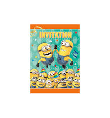 new despicable me 2 minions bob birthday party invitations with