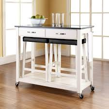 Kitchen Furniture Island Furniture White Portable Kitchen Island With Seating Plus Black