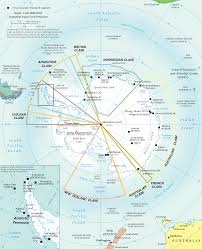 map of antarctic stations territorial claims in antarctica