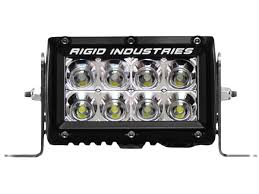 Led Flood Light Bars by Rigid Industries 4 Inch E Series Led Light Bar Amber Flood 104122