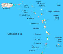 St Thomas Virgin Islands Map Map Of The Eastern Caribbean Islands Tuchman Beaches Guide