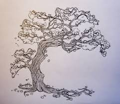 cherry tree sketch by gonzagator on deviantart