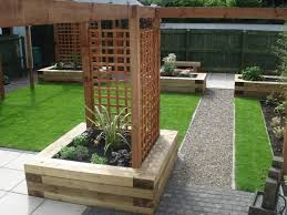 Rear Garden Ideas Sleepers In Gardens Search Garden Pinterest