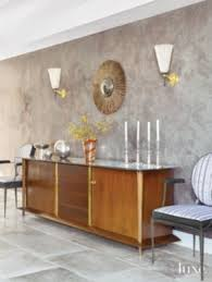 transitional neutral dining room with french buffet luxe igf usa