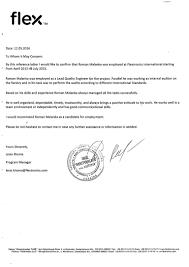 Medical Transcription Sample Recommendation Letter Flextronics