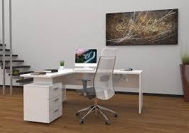 bureau moderne blanc bureau moderne blanc bureau en l lepolyglotte