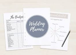 printable wedding planner free printable wedding planner a5 letter