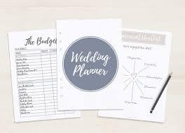 free printable wedding planner a5 u0026 letter