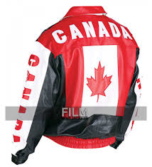 Candaian Flag Motorcycle Canadian Flag Leather Jacket