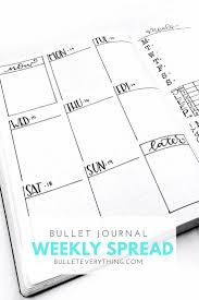 free printable weekly planner template best 25 weekly calendar template ideas on pinterest weekly bullet journal weekly spread from bullet everything read about it and downloads the templates