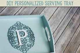 monogrammed serving tray 40 most diy serving tray ideas cool crafts