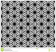 japanese pattern black and white seamless traditional japanese ornament kumiko zaiku stock vector