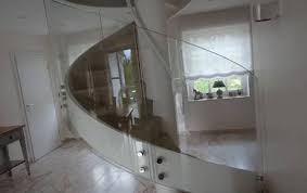 Glass Stair Banister Design Railings Handcrafted Sillerstairs
