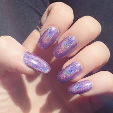 purple holographic nails ellen atlanta
