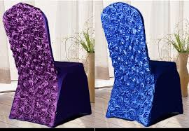 rosette chair covers rosette stretch polyester spandex wedding party chair covers for