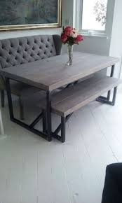 Wooden Tables And Benches Industrial Style Reclaimed Wood Grey Washed Dining Table And