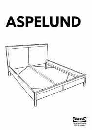 ikea aspelund bed frame queen furniture download user guide for