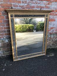 Decorative Framed Mirrors A Highly Useful Antique 19th Century French Carved Wood U0026 Gesso