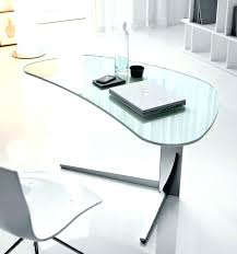 Office Glass Desk Contemporary Glass Desk Desks Home Office Computer With Top