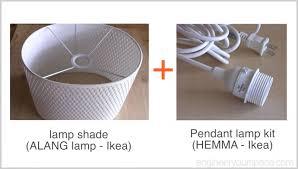 ikea pendant light kit ikea hack easy diy pendant l with alang l shade smart diy