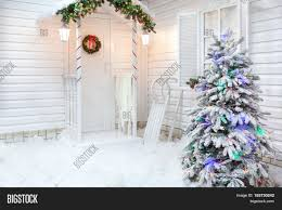 House With A Porch Winter Exterior Country House Image U0026 Photo Bigstock