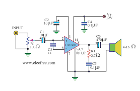 mini audio lifier circuit schematic electronics