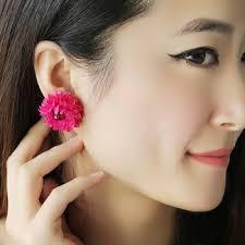 big stud earrings buy sweet flower stud earring big fabric flower earrings in