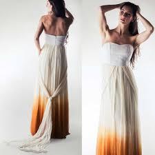 ombre wedding dress helianthus ombré wedding dress larimeloom