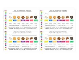 scout cookie order receipt thank you card by hartpaper