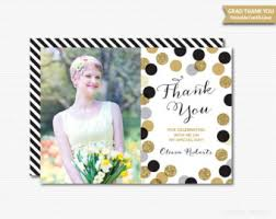 thank you cards for graduation grad thank you cards etsy