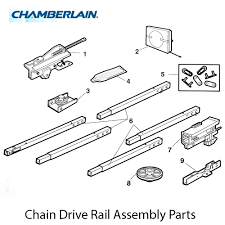 Garage Door Assembly by Buy Chamberlain 41c5141 1 Complete Trolley Assembly Square Rail