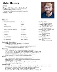 Child Actor Resume Sample Resume Samples For Kids Acting