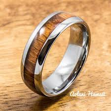 rings wooden images Koa wood wedding rings available in tungsten titanium sterling jpg