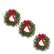buy pre lit wreaths from bed bath beyond