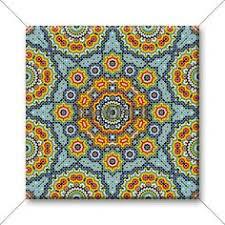 Colorful Tile Backsplash by Cobalt Blue Kitchen Accessories Kitchens And Backsplashes Lights