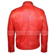 motorcycle style jacket mens biker style leather jacket fashion red motorcycle jacket